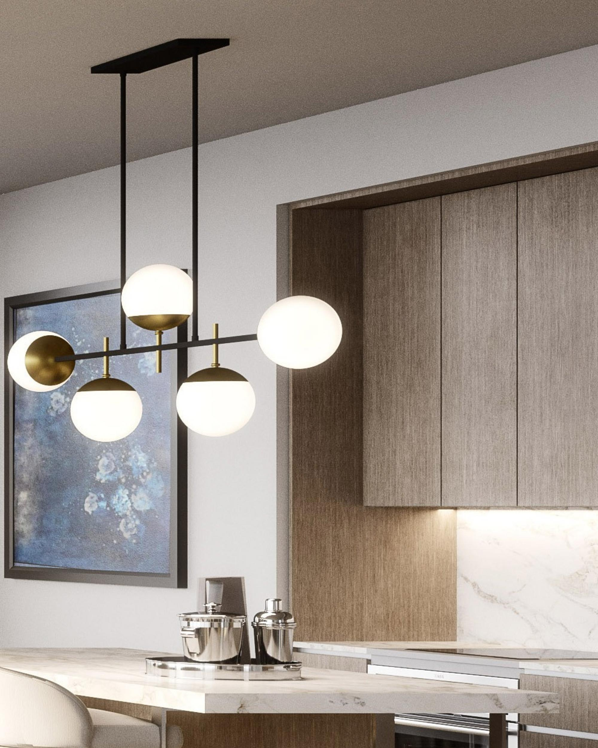 Skyline Residence B Kitchen Lamp Crop